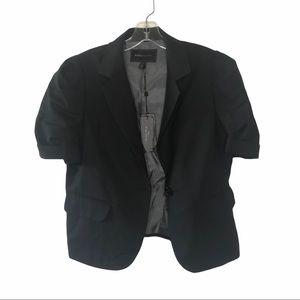NWT BCBG Maxazaria Black Short Sleeve Blazer Lrg